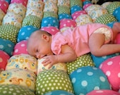 "Made to Order - 40"" x 40"" Baby or Playtime Biscuit/Bubble Quilt"