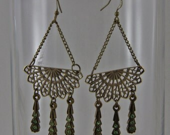 Handmade Filigree Dangle Boho Earrings