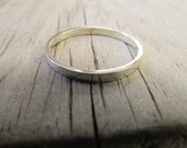 thin silver ring wedding band stacking ring dainty ring small ring narrow ring polished ring