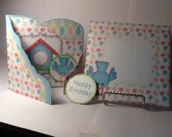 Cute Little Blue Bird Birthday Card