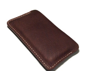 Side Opening iPhone 6 & 6 Plus Oil Tanned Leather Case