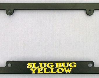 Slug Bug Yellow License Plate Frame