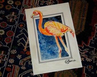 Pink Flamingo Painting 1978