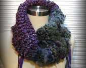 Wearable Art Cowl, Infinity Cowl, Bohemian, Fantasy, Woodland, Amethyst, Sage, Heather Blue Green, Heather Teal, FishBaySunsets