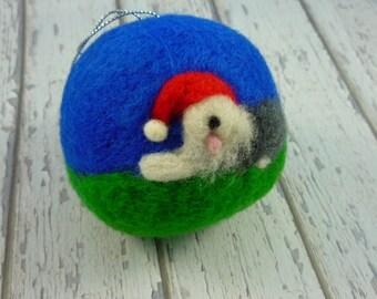 Sheepdog, collectable, Old English sheepdog gift, sheepdog Christmas, Sheepdog ornament, Sheepdog Santa, Sheepie Gift, English Sheepdog gift