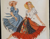 Kwik Sew 913 Misses Square Dance Dress in 2 Styles Vintage Sewing Pattern Size 6 to 12