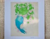 Whale Bubbles Print