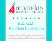 Food Label Tent Cards | Printable A la Carte Party Single | Amanda's Parties To Go