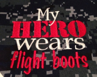 My Hero wears flight boots, Military Dog Bandana, Large