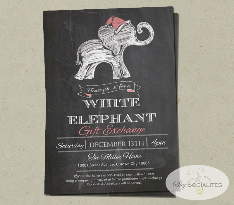 elephant invitation  etsy, Party invitations