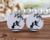 50% off- 16mm 20mm 10PCS 20PCS 50PCS 100PCS Round Handmade Photo Wood Cut Cabochon - Childhood (WEH-138)-(Back White)