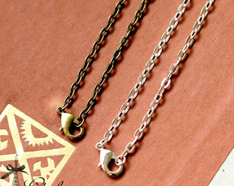 """10pcs 27.5""""Long Silver  / Bronze Finished Chain Necklace (CHAINSS-39.40)"""