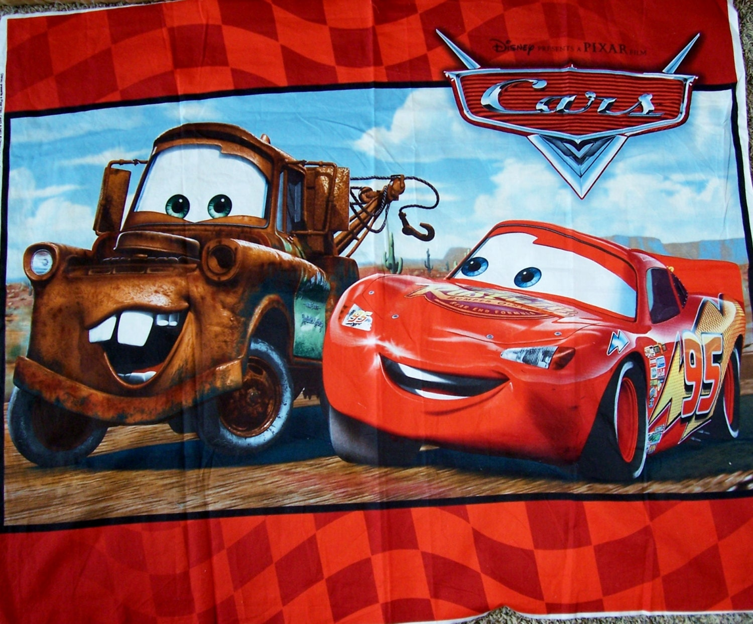 Disney And Pixar S Cars Fabric Panel For Children S