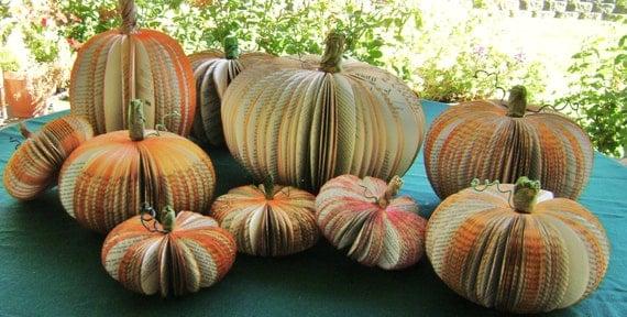 Mittlerer gr e buch seite k rbis herbst herbst wohnkultur for Bastelideen herbst papier