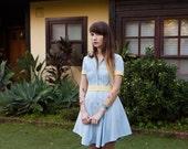 Light Blue Retro Diner Dress