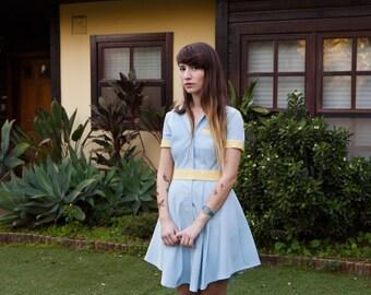 Summer Sale 15% off Light Blue Retro Diner Dress