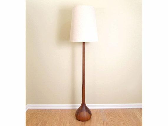 Teak Floor Lamps: Danish Modern Teak Acacia Floor Lamp - Sculptural Biomorphic Mid-Century  Scandinavian Style Area Lighting,Lighting