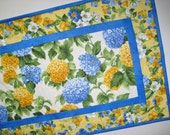 Floral Table Runner, Spring, Summer, quilted, fabric from Moda
