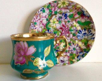 Japan Hand Painted Tea Cup & Saucer