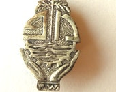 Mexican Sterling Silver Art Deco brooch