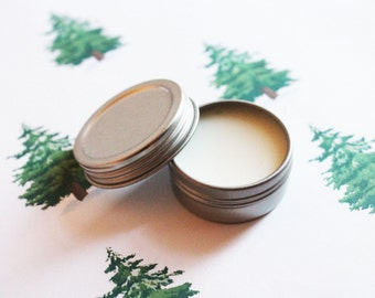 Pine Scented Lip Balm - Natural Shea Butter Vegan Lip Balm - Cocoa Butter - Lip Balm Tin - Lip Balm Favors - Matte Lipstick - Valentines Day