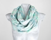 Infinity Scarf Blue squared Scarf Squared Scarf Creased Scarf Loop Scarf Circle Scarf Soft Scarf