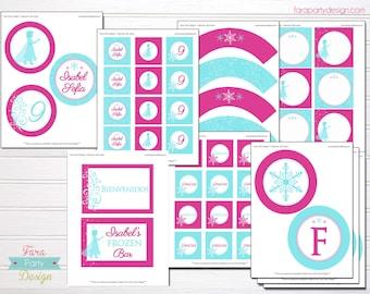 Frozen Party Printable Collection by Fara Party Design
