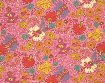 Coloring Garden in Berry PWAH089 - FOLK SONG by Anna Maria Horner - Free Spirit Fabric  - 1 Yard
