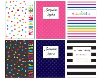 Half Page Planner Cover Page - INSTANT DOWNLOAD Personalized Agenda Cover Page