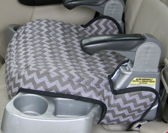 Car Accessory, Booster Seat Replacement,Evenflo Big Kid LX Booster seat covers, in two tone grey chevron