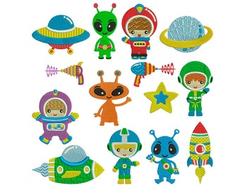 OUTERSPACE - Machine Embroidery - Instant Digital Download