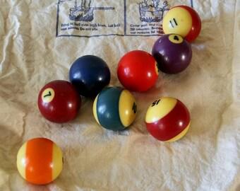 Vintage Billiard Balls, Billiard Pool Balls