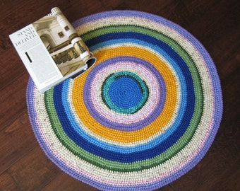 Multi Color Round Rug / Floor Mat  29x29