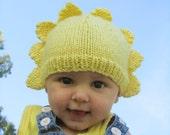 Sunshine yellow babies wool,silk,mohair hat, brighten up your day!