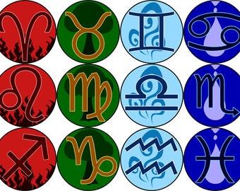 Western Zodiac Pin Set