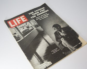 Life Magazine - August 1, 1969 - Retro Advertisements and Articles - The Fateful Turn for Ted Kennedy