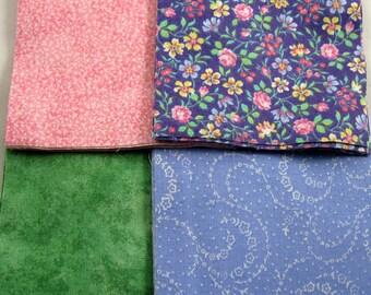 Pretty Pastel Four Inch Floral Quilt Squares