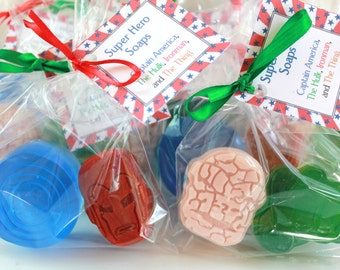 The Avengers Party Favor Soaps