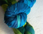 Sari silk ribbon, 2 x 10 yards. Craft ribbon for crafts and jewelry making and other textile and fiber art works.