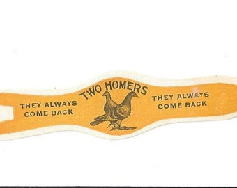 Two Homers Golden Vintage Cigar Band, 1940s