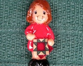 quilting ornament handmade bread dough by judy caron