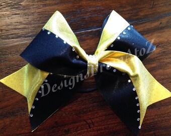 2 Tone Rhinestone Sparkle Cheer Bow