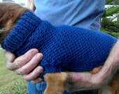 PDF Download for Lena's Easy Ripple Stitch Miniature Dachshund Sweater Pattern