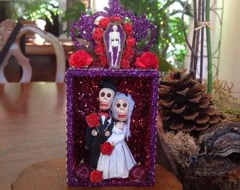 Day of the Dead Wedding Nicho.