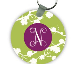 SAKURA keychain with monogram