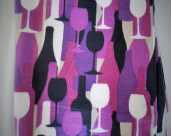 Mod Wine! Fleece Blanket - Extra Large
