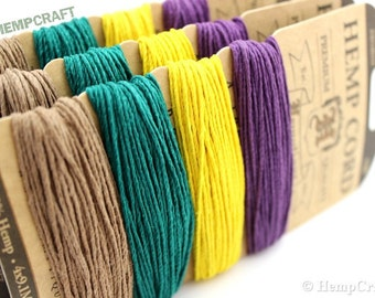 Hemp Twine, Jester Color Card, High Quality 1mm Colored Craft Cord