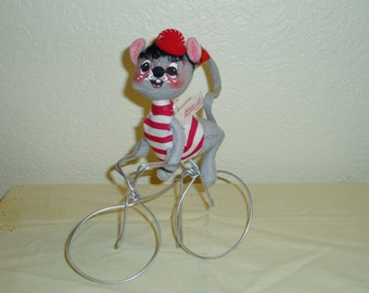 """Annalee Mobilitee 8.75"""" Bicyclist Boy Mouse"""