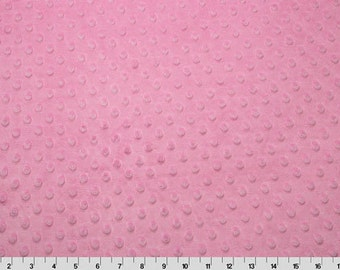 "Hot Pink Cuddle Dimple Dot Minky by Shannon Fabrics, Fat Half (30"" x 36"")"