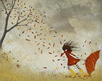 Autumn storm - Art print (3 different sizes)